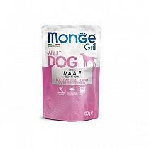 Monge Dog Grill Pouch м/п д/с Свинина, 100гр